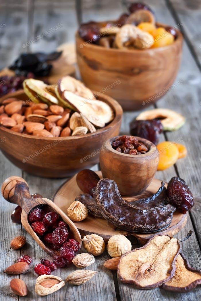 Mischung aus getrockneten Früchten