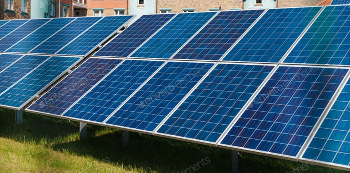 Energy-efficient solar panels producing electricity
