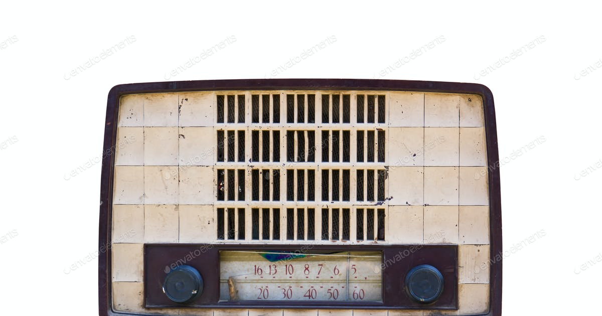 Old radio isolated photo by stoonn on Envato Elements