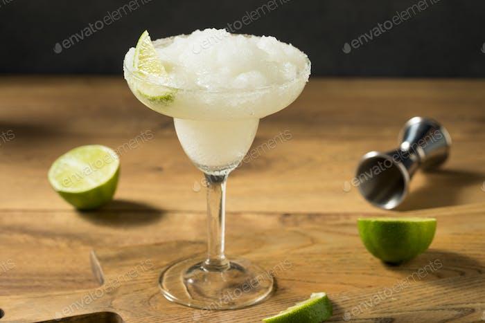 Refreshing Cold Boozy Frozen Tequila Margarita