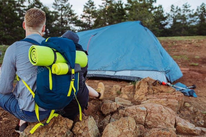 Наша палатка готова