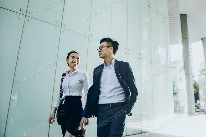 Asian business people, vivid tone