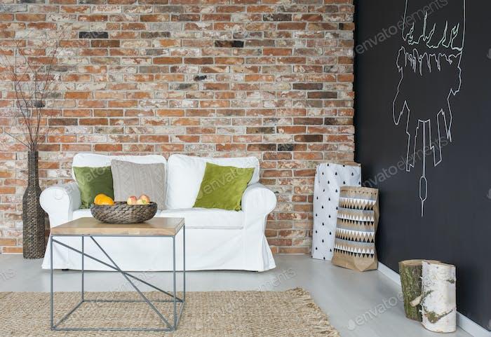 Eco living room with sofa