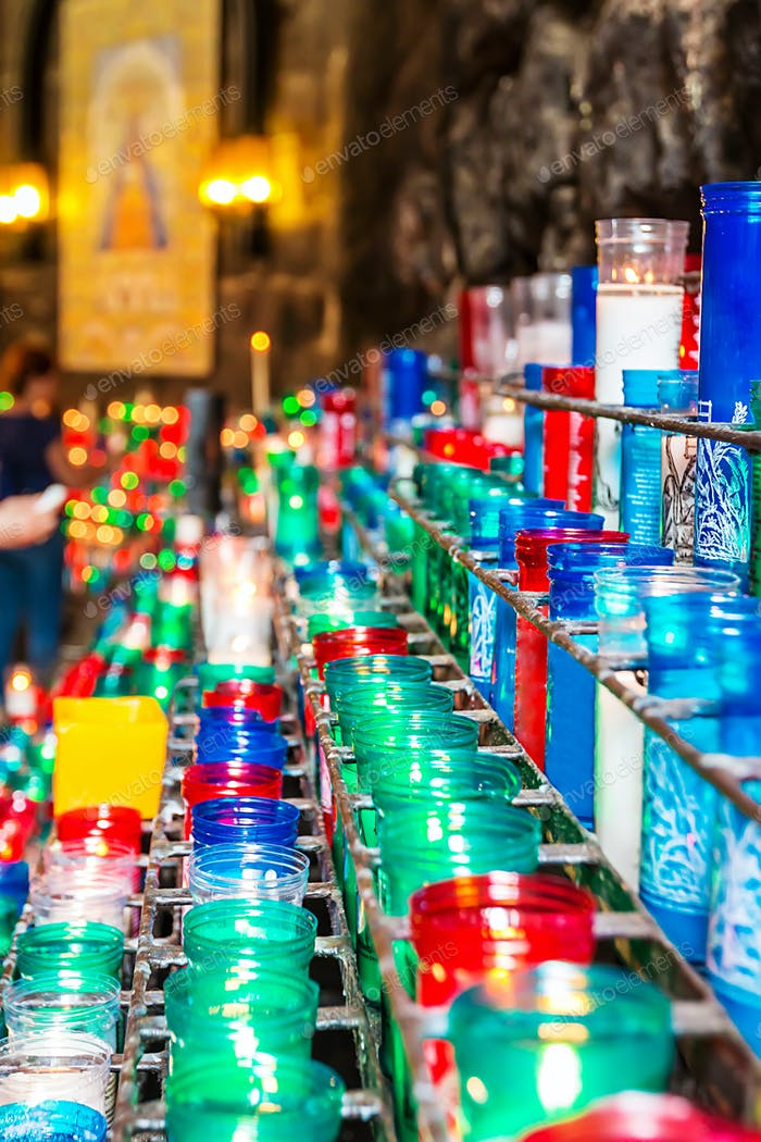 Colorful church candles