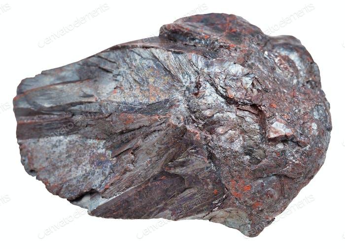 piece of Hematite (iron ore, haematite) stone