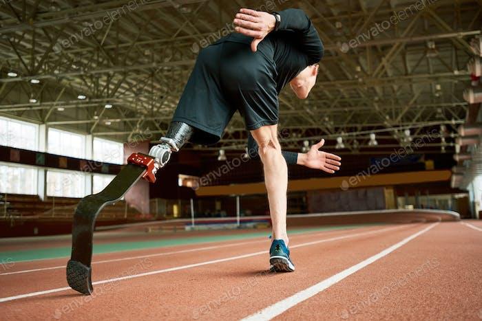 Handicapped Sportsman on Track