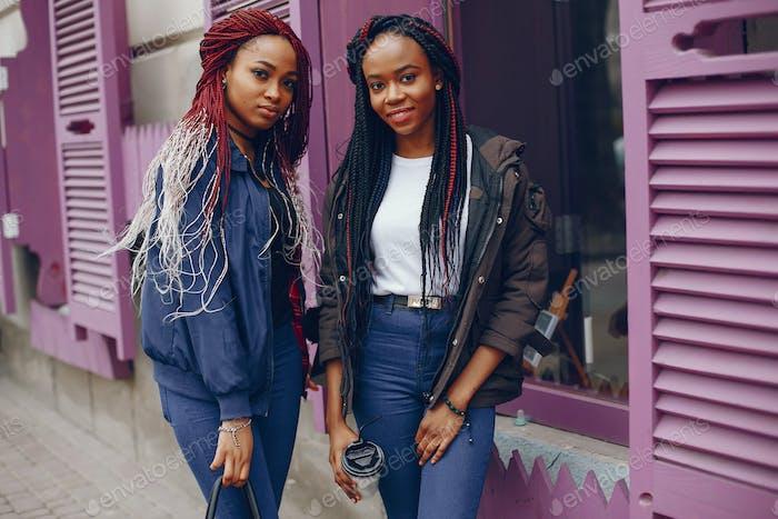 black girls in a city