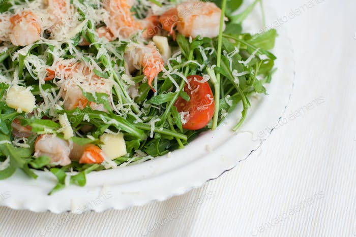 Dish with a salad