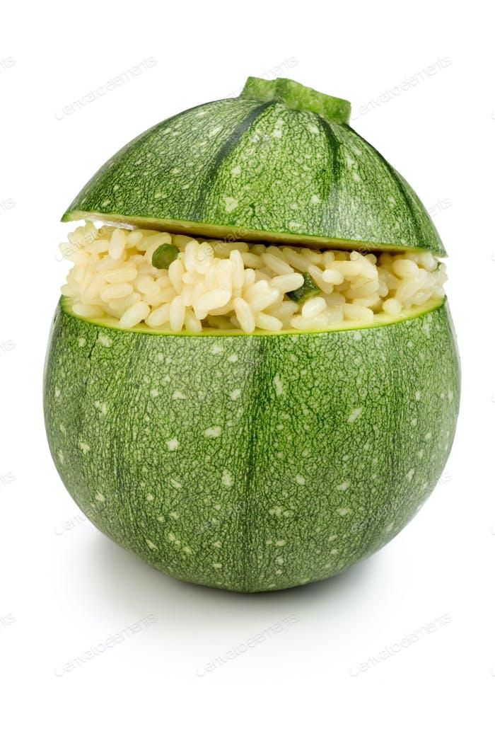 zucchini stuffed with rice