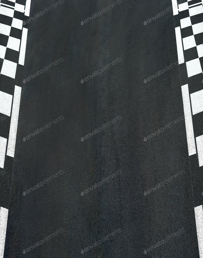 Car race asphalt on Grand Prix street track