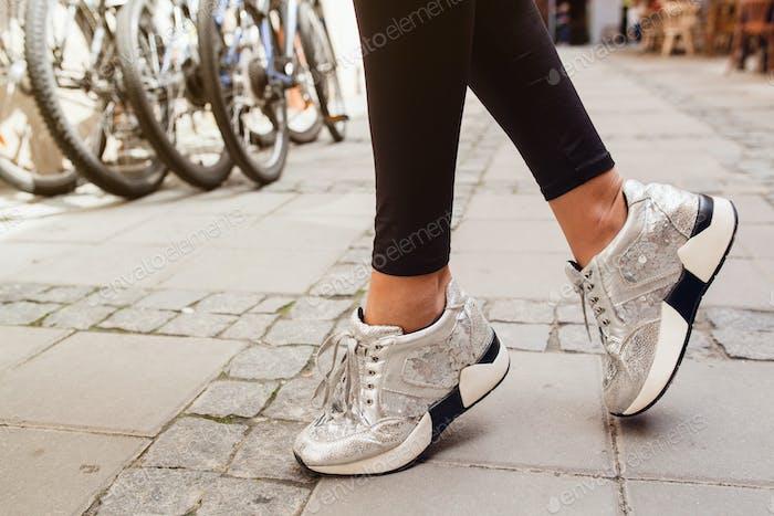 legs close up, shoes details