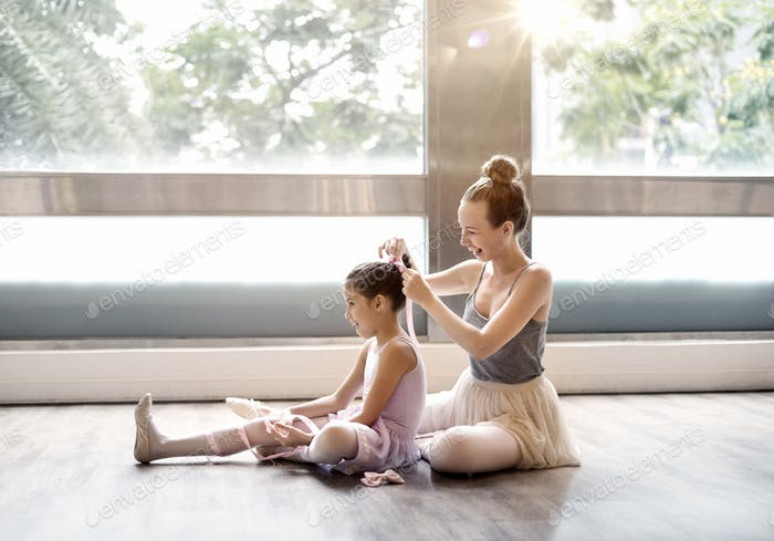Ballet Dancer Training School Concept