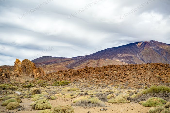 Thumbnail for Mountains inspirational landscape Teide Park, Spain