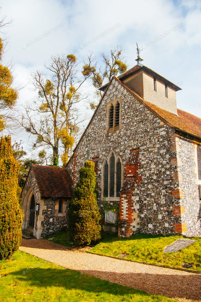 Rural Church of Hedsor in England