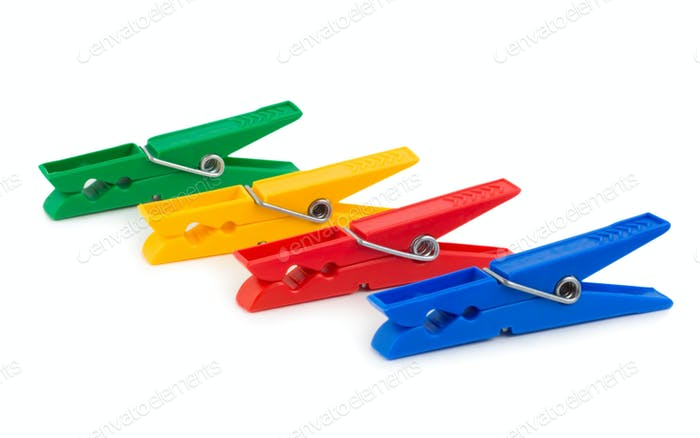 Coloured clothespins