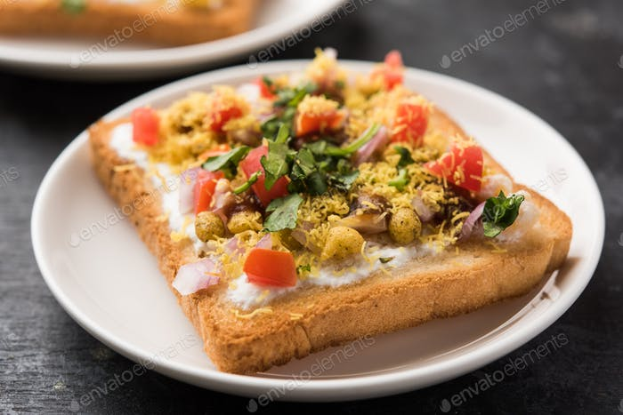 Bread Slice chaat or chat