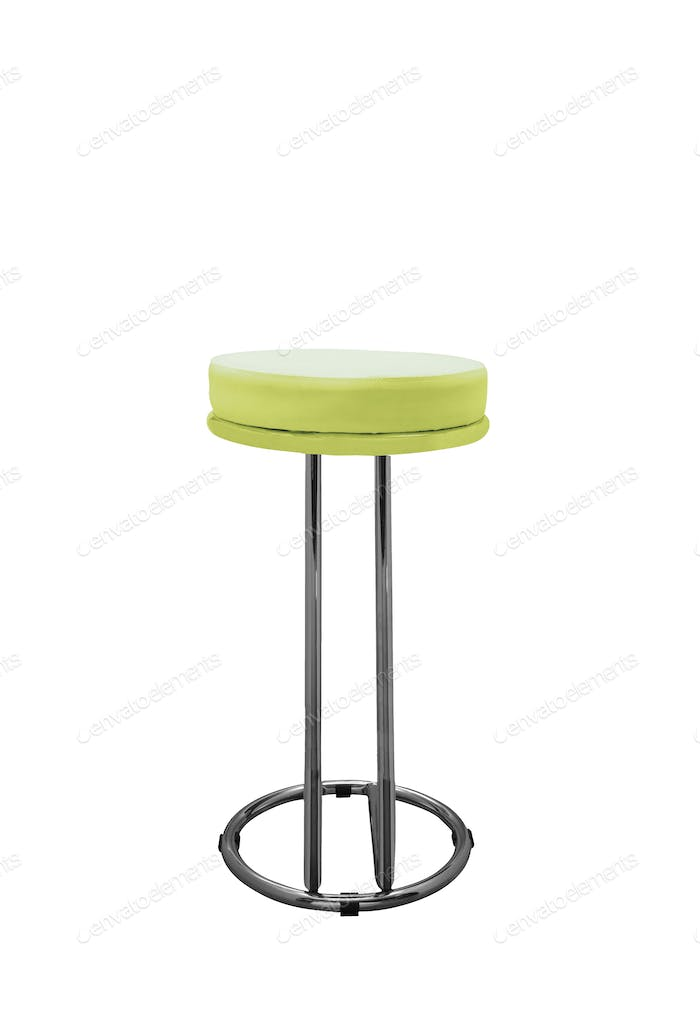 Bar stool isolated on white background