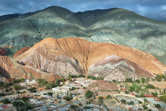 Multicolored mountains known as Cerro de los 7 colores