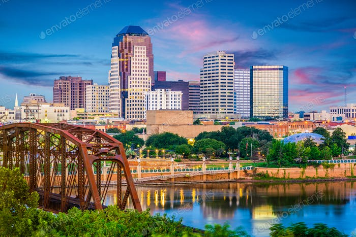 Shreveport, Louisiana, USA Skyline