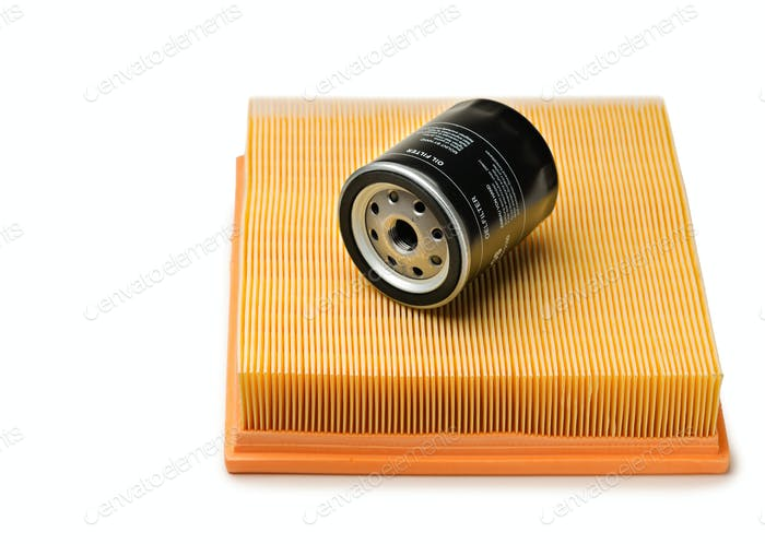 Air and oil filter. Isolate
