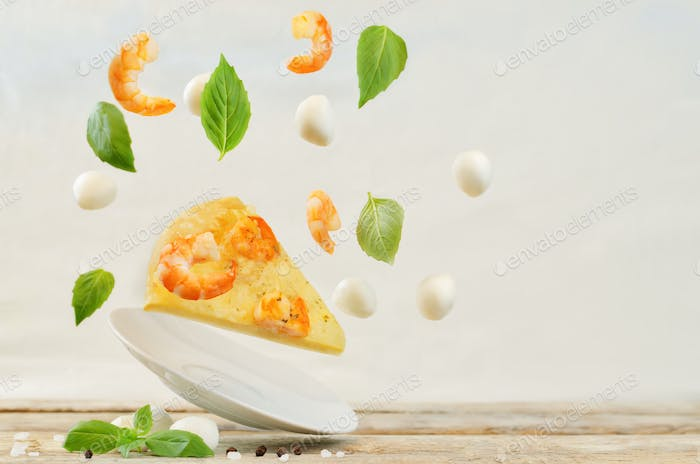 Flying Shrimp Knoblauch kitschige Pizza