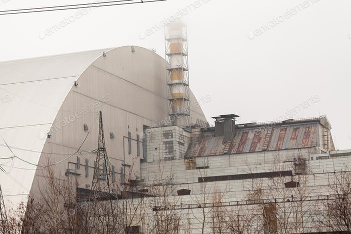 Chernobyl, Ukraine. 3 and 4 block of Chernobyl nuclear power plant