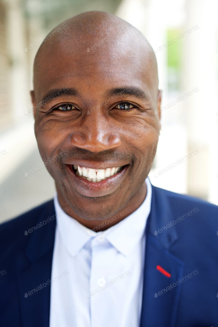 Smiling older african american businessman