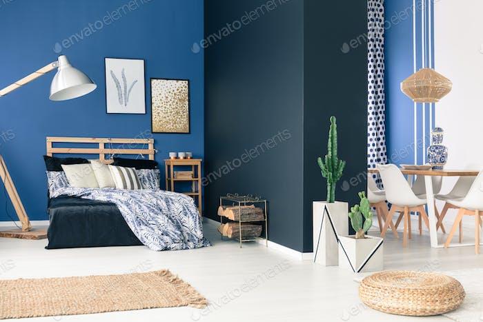 Blue loft space