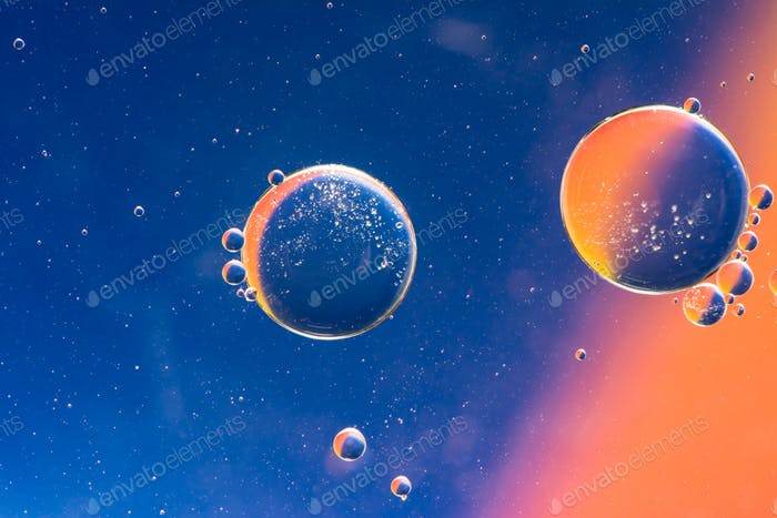 Abstract Macro Oil Planets