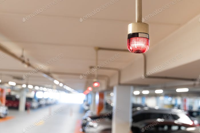 Smart car parking tracking system with lights signals vacancy availability