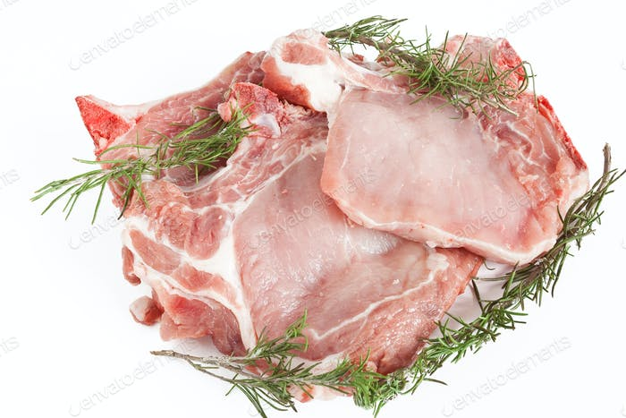 pork steaks with rosemary