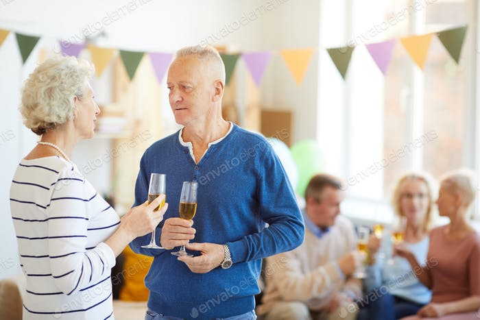 Chatting at party