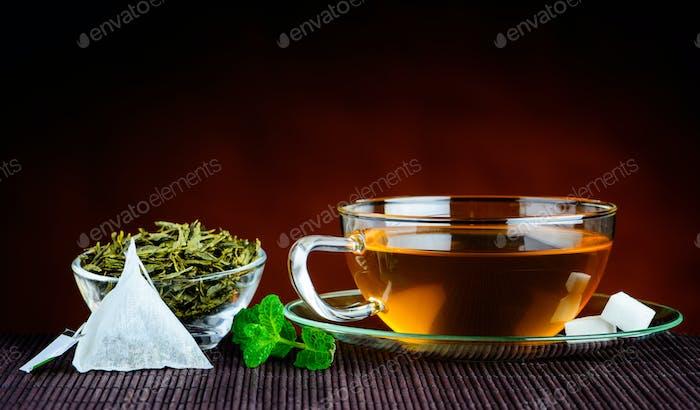 Green Tea in Traditional Still-life