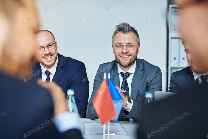 Delegates at meeting