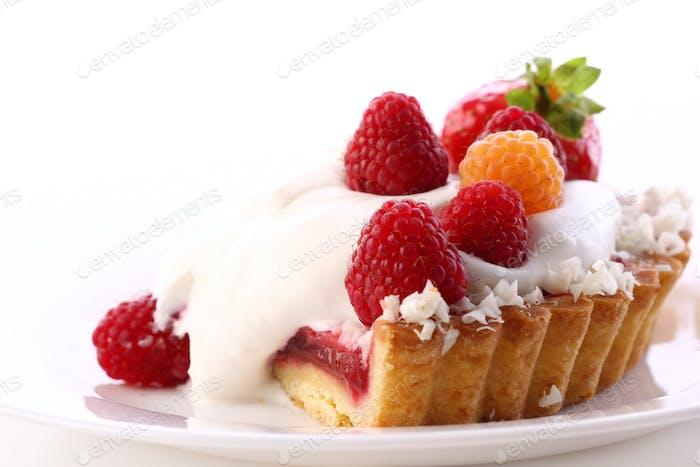 Dessert Fruchtkuchen Kuchen mit Blaubeere