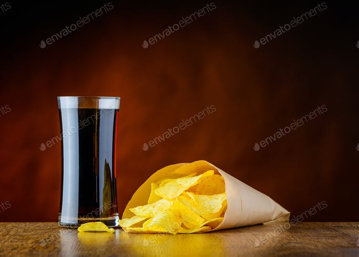Junk Food Cola and Chips