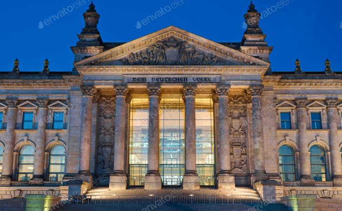 Entrance to the Reichstag in Berlin