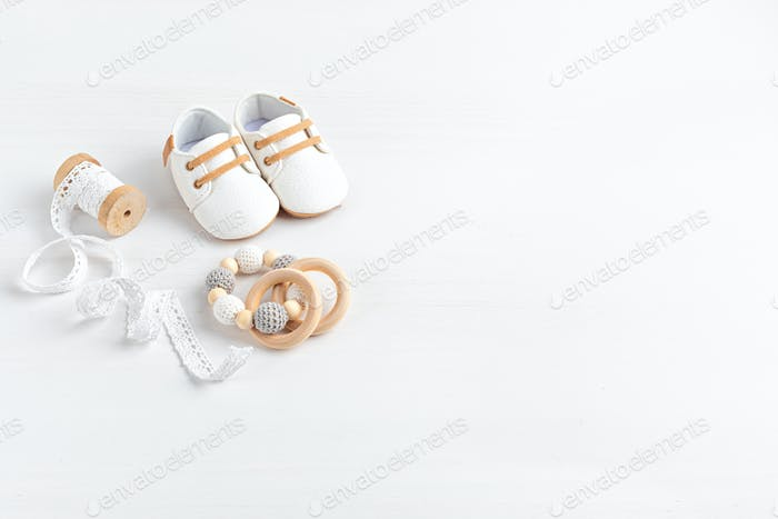 Gender neutral baby shoes and accessories. Organic newborn fashion, branding, small business idea