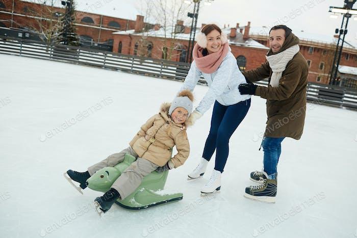 Fun on ice-rink