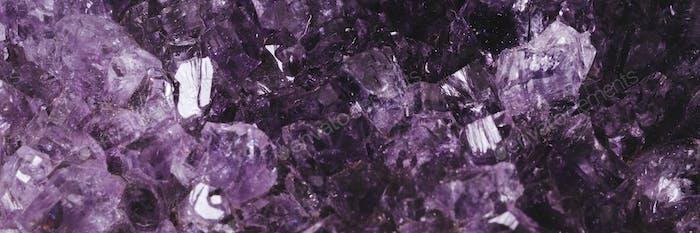 Amethyst crystal macro photography