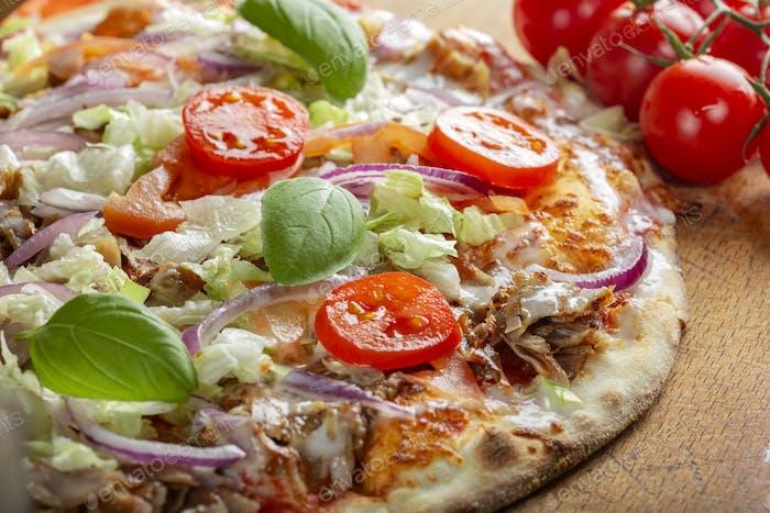 Kebab-Pizza