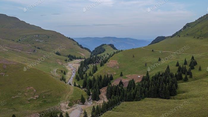 Mountain Area In Bucegi Mountains, Romania