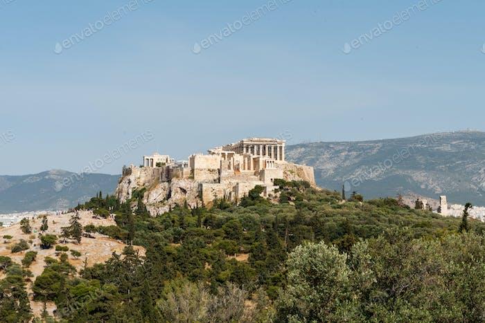 Blick auf die Akropolis von Athen - Griechenland