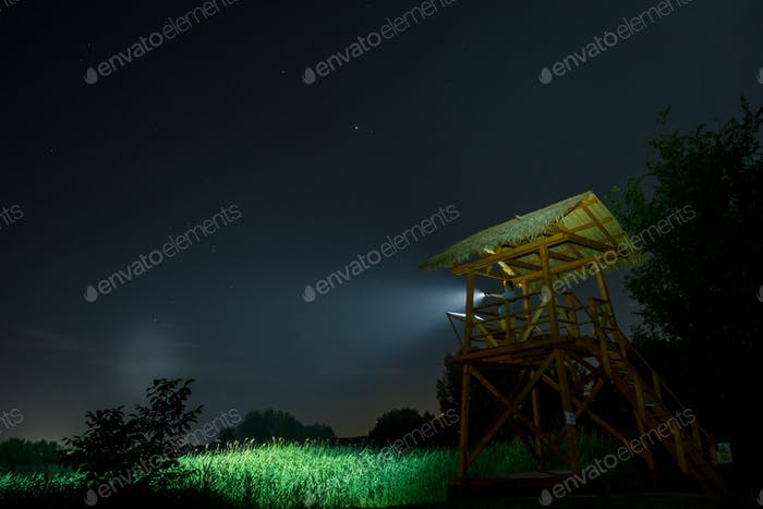 Guard Post at Night
