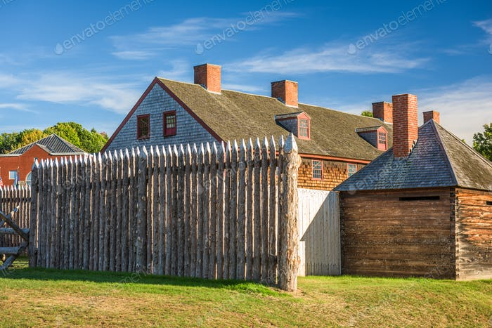 Augusta, Maine, USA at historic Fort Western