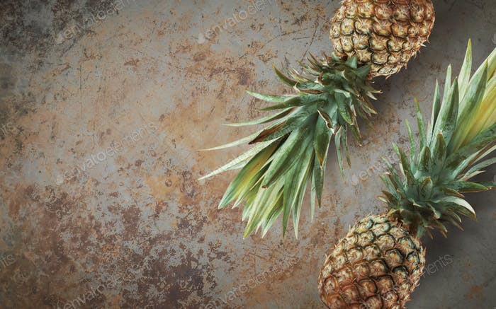 Pineapple on concrete