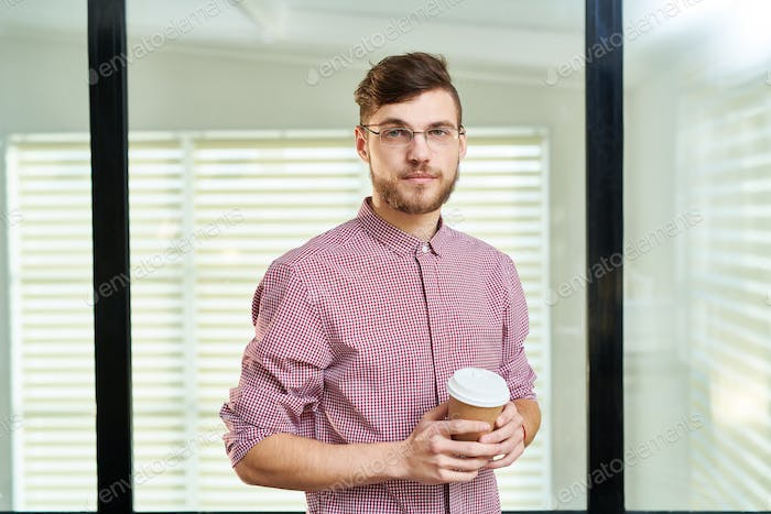 Confident male office worker