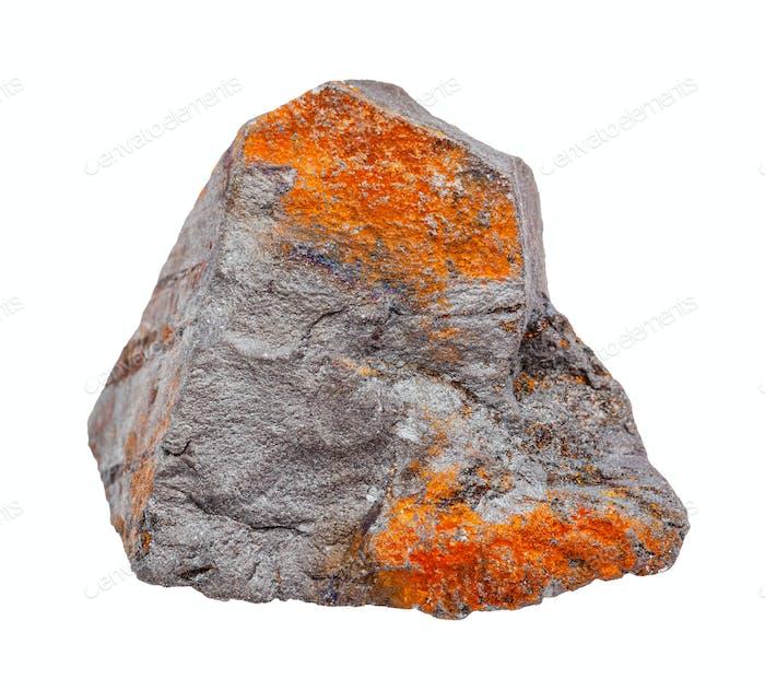 roh grau und rostig Hämatit Gestein isoliert