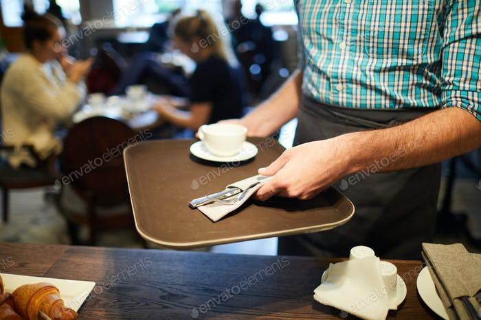 Working as waiter