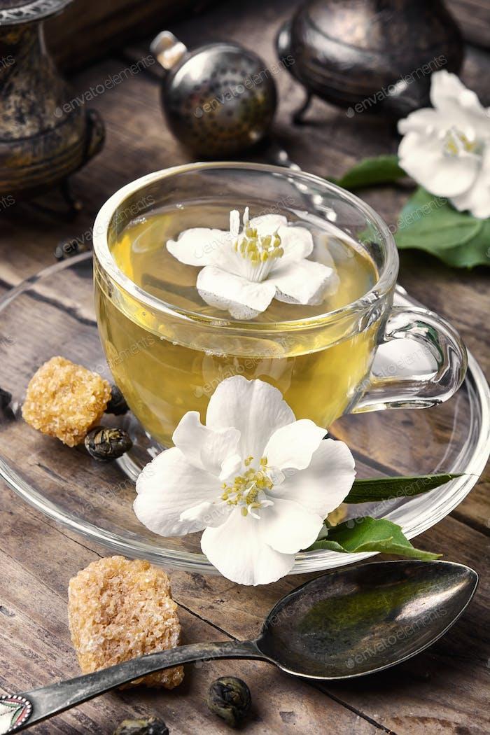 herbal tea with Jasmine flowers